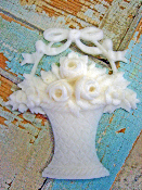 Shabby Rose Basket (Large)