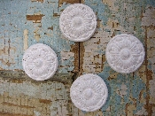 Shabby Rosettes (set of 4)