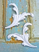 Floral Architectural Appliques (set of 2)