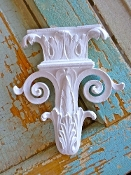 Shabby Architectural Carved Applique