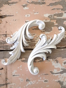 Shabby Architectural Carved Scrolls (set of 2)