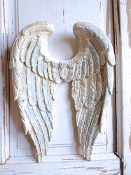 Shabby Chic Angel Wings with French Blue Vintage Finish
