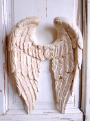 Shabby Chic Angel Wings with Shabby Pink Vintage Finish